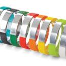 Silver Centre Silicone Wristband