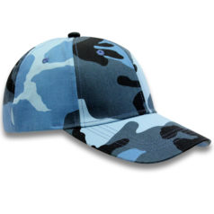 Blue Basic Camo Caps