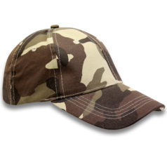 Brown Basic Camo Caps