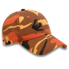 Orange Camo Caps