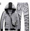 Grey & Black Hoodie Tracksuits